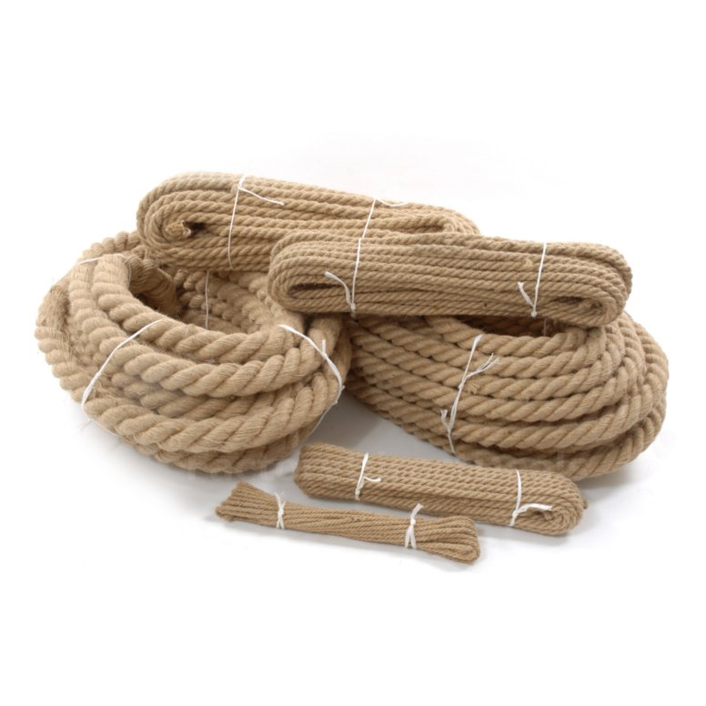 100 natural jute hessian rope cord braided twisted boating for Garden decking with rope