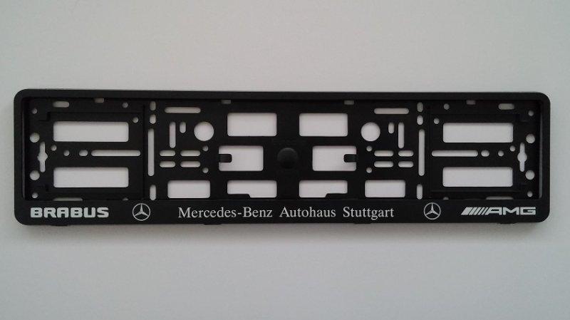 2 x amg brabus black for mercedes benz car van number for Mercedes benz number plate holder