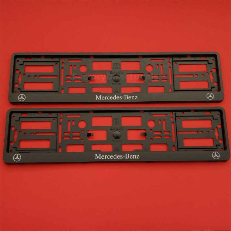 New pair number plate surrounds holder frame for any for Mercedes benz number plate holder